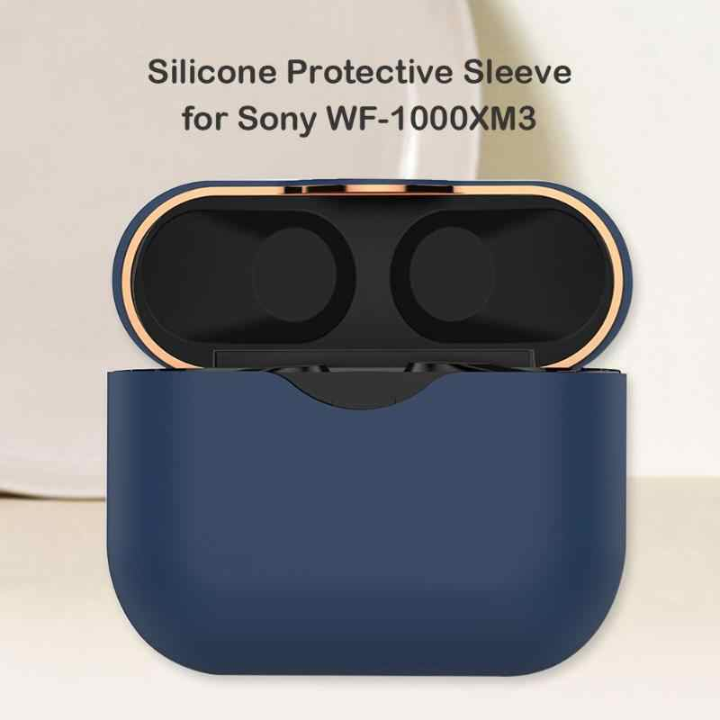 Clamshell Silicone Wireless Earphones Protector Cover Waterproof Environmental Protection Safety for Sony WF-1000XM3 Case
