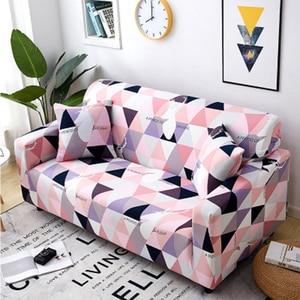 Image 3 - Crianças antiderrapantes da espuma da parte inferior elástica, tela do jacquard do elastano sofá protetor da mobília do slipcover da capa do sofá do estiramento macio com