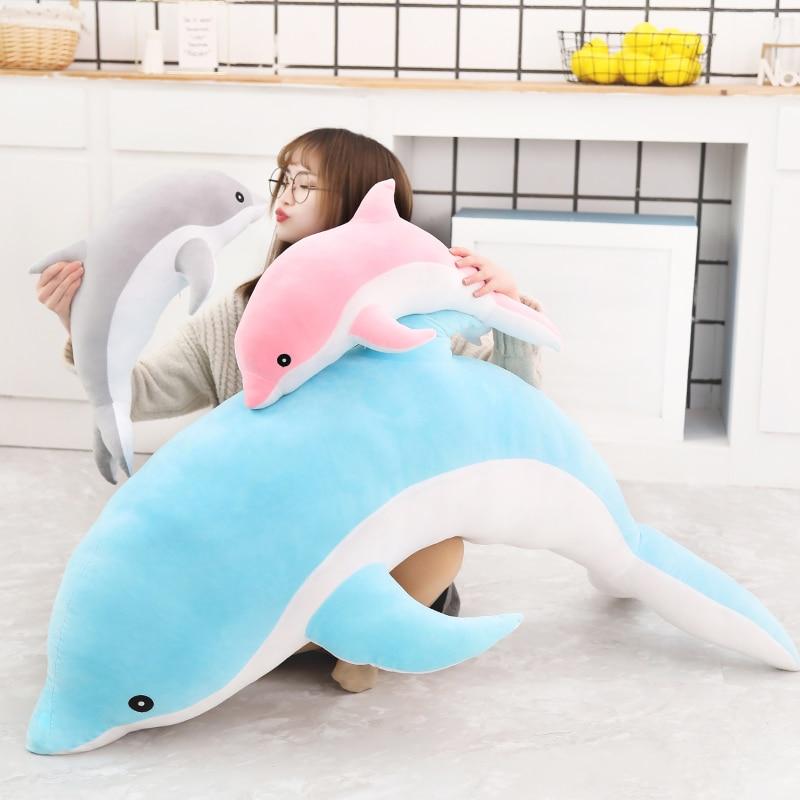 30CM kawaii Dolphin Plush Toys Lovely Stuffed Soft Animal Pillow Dolls for Children Girls Sleeping Cushion Finger Gift