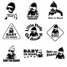 Car Sticker Of Baby On Board NEW  Stickers Ussr Vinyl Car Sticker 3D Car Styling Decals Window Sticker carcardo 40cm x 200cm car headlight taillight tint vinyl film sticker car smoke fog light viny stickers decals car styling