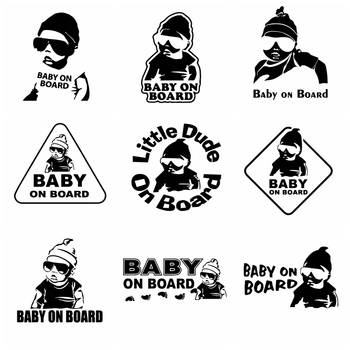 Car Sticker Of Baby On Board NEW  Stickers Ussr Vinyl Car Sticker 3D Car Styling Decals Window Sticker vinyl car stickers creative vinyl sticker on car stickers and decals window sticker car styling decal