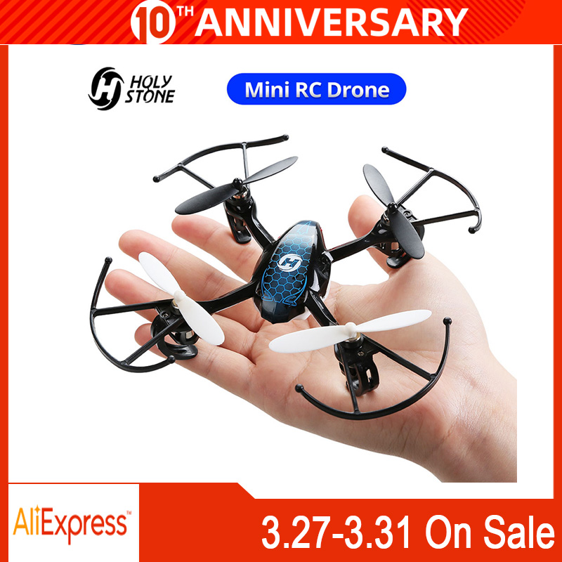 Holy Stone HS170 Predator Mini RC Drone Helicopter 2.4Ghz 6-Axis Gyro 4 Channels Quadcopter 3 Speed Mode Wind-resistant Drone