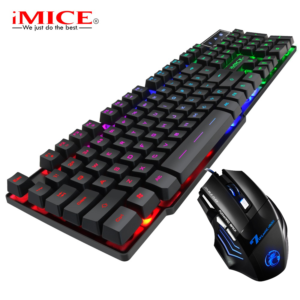 клавиатура Gaming Keyboard With Backlight RGB Key Board USB 104 Keycaps Waterproof Keyboard For Gamer Computer Components