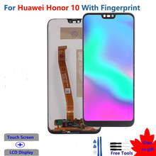 Original LCD For Huawei Honor 10 Display With Fingerprint Touch Screen For Huawei Honor 10 Display COL-L29 Screen Replacement
