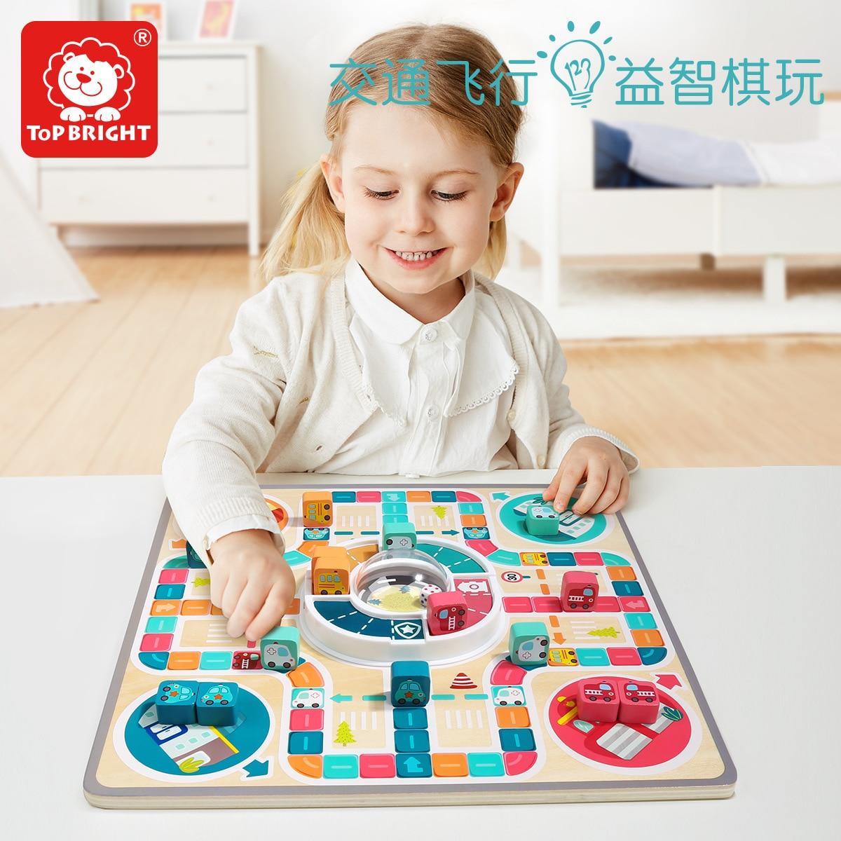 TOPBRIGHT מטוס שחמט רב תפקודי משחק שחמט שחמט ילדי לוח משחק ההורה ילד אינטראקטיבי צעצוע Educatio