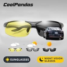 אינטליגנטי צהוב כדי אפור HD Photochromic מקוטב משקפי שמש גברים נשים בטיחות נהיגה משקפיים יום ראיית לילה משקפי Oculos