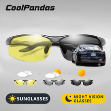 Intelligent Yellow to Gray HD Photochromic Polarized Sunglasses Men Women Safety Driving Glasses Day Night Vision Goggles Oculos