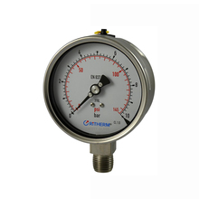 100mm laser welding All stainless steel pressure gauge high pressure gauge with liquid filled yn series general pressure gauge ytn 100 0 25mpa all range