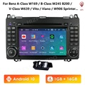 Android 10 IPS Quad Core 1G 16G Multimedia für Mercedes Benz W169 W245 Viano Vito W639 Sprinter W906 DVD RDS SWC DVR OBD2 4GWIFI