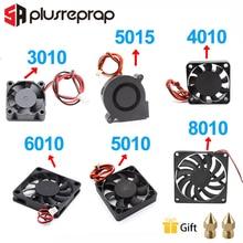 5015/4010/3010/5010/6010/8010 12V 24V Cooling Turbo Fan Brushless DC Cooler Blower 2-Wire Black Plastic Fan For 3D Printer цена и фото