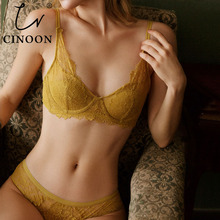 CINOON New Top Women Lingerie Sexy Embroidery Lace Underwear Sets High Quality Bra Set Push Up Sexy Intimates Bra & Brief Set