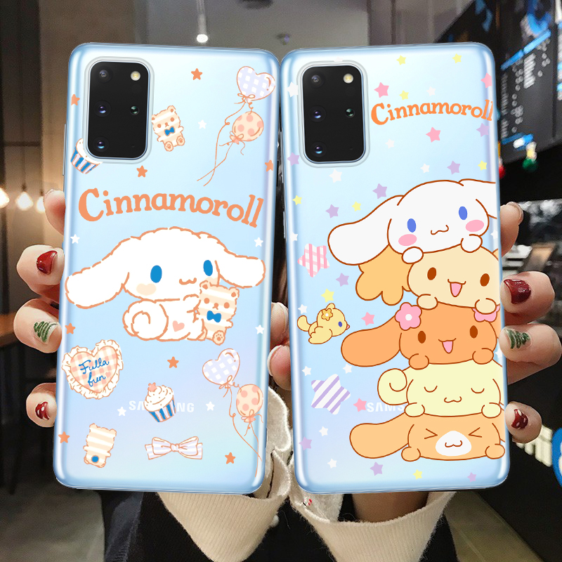 Korea INS <font><b>Cute</b></font> Cinnamoroll <font><b>Phone</b></font> <font><b>Case</b></font> For <font><b>Samsung</b></font> S7 Edge S8 <font><b>S9</b></font> S10 S20 Plus Ultra S10E Japan Anime Kuromi Soft TPU Back Cover image
