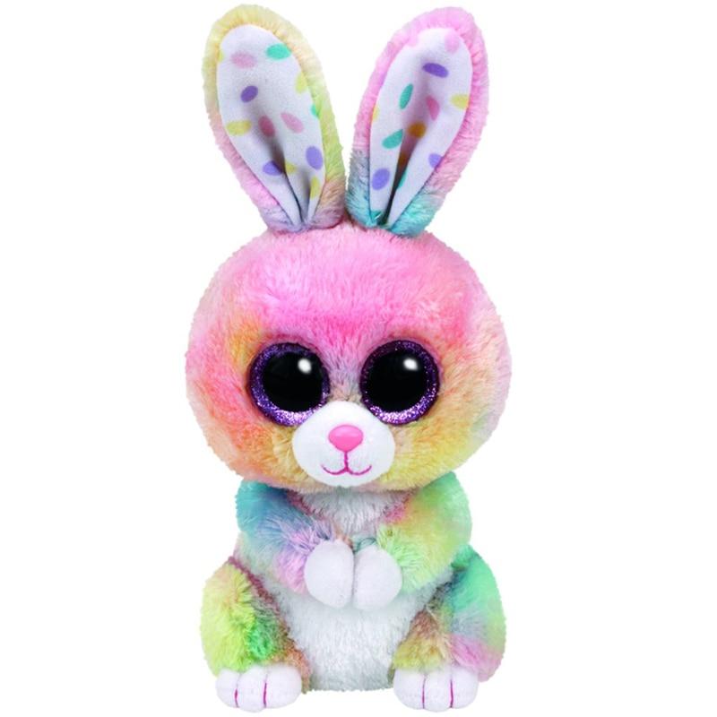 Ty Beanie Animals Bubby Multicolor Bunny Plush Rabbit Toy 15cm
