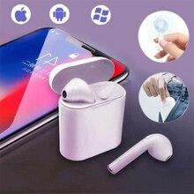 I7s Tws беспроводные наушники Bluetooth наушники стерео вкладыши гарнитура с зарядным устройством микрофон для всех Bluetooth планшетов смартфонов