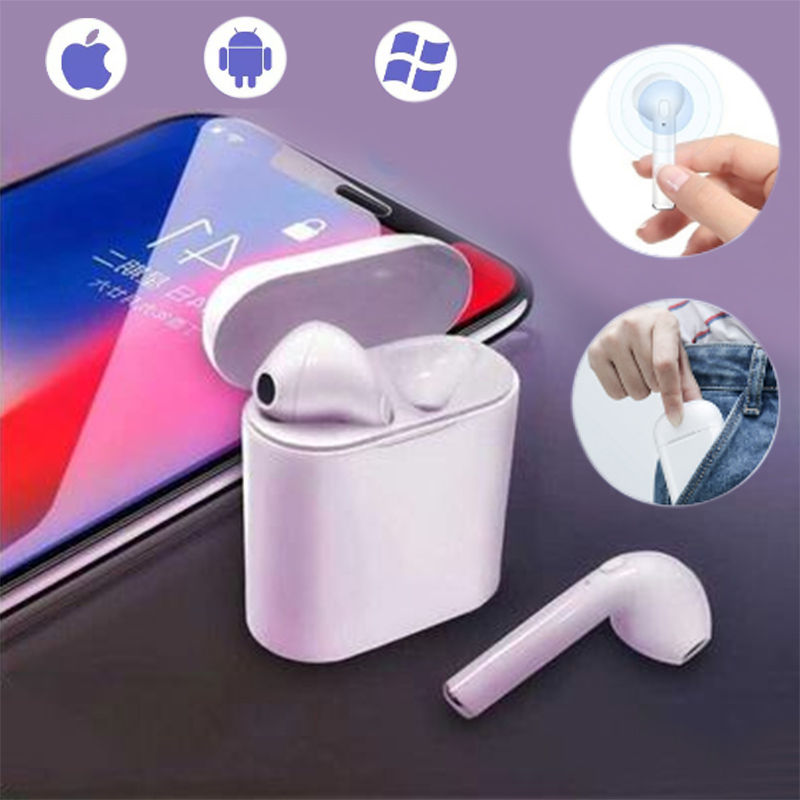 I7s Tws Wireless Headphones Bluetooth Earphone Stereo Earbud Headset With Charging Box Mic For All Bluetooth Tablet Smartphone
