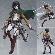 Anime ataque em titan 203 mikasa ackerman figma ação 15cm figura pvc modelo de brinquedo estatueta boneca colecionável