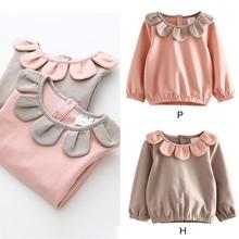 Autumn Baby Girls Cotton Flower shirt Tops Blouse Long Sleeve Children Casual Shirts цены