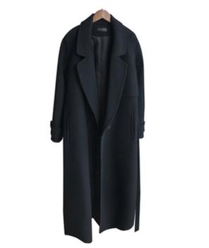 New Black Ruffle Warm Winter Coat Women Turndown Collar Long Coat Overcoat Female Casual Autumn Woolen Jacket With Belt цена 2017