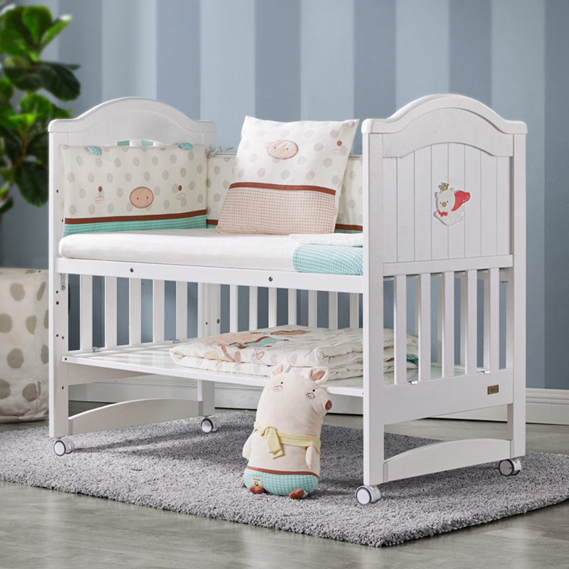 More Than Solid Wood Crib Newborn Stitching Big Bed Baby Cradle Bed Multi-function Bb Bed Baby Furniture