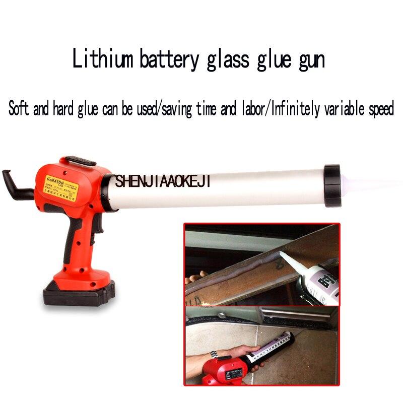 1PC Portable Cartridge Gun Electric Silicone Gun Professional Lithium Glass Glue Gun Rechargeable 18V Lithium Battery Glue