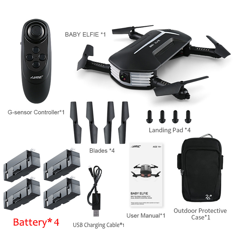 Jjrc Jjr C H37 Mini Baby Elfie Selfie 720p Wifi Fpv With Altitude Hold Headless Mode Foldable Rc Drone Quadcopter Rtf Quadcopter Helicopter Wifi Fpvrc Drone Aliexpress