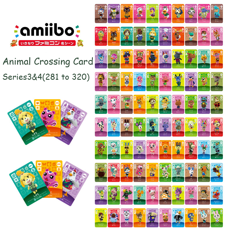 Animal Crossing Card Series 4 (281 To 320) Amiibo Card Work For NS 3DS Switch Game New Horizons Happy Home Designer Guide Switch