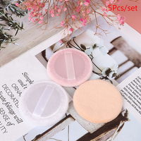 5pcs Microfiber Cloth Pads Facial Makeup Remover Puff Cotton Double layer Face Cleansing Towel Reusable Nail Art Cleaning Wipe 5