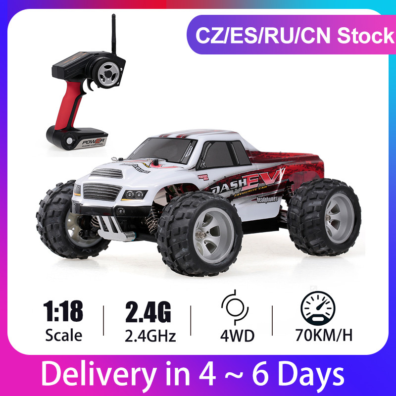 WLtoys A979-B 1/18 voiture de course 2.4GHz 4WD RC voiture 70 KM/h haute vitesse haute qualité grand pied camion RC chenille électrique RTR cadeau jouets