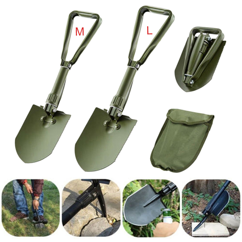 M/L Folding Shovel Military Shovel Tactical Multifunction Folding Spade For Outdoor Camping Survival Emergency Tool