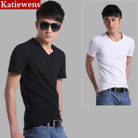 2018 Summer MEN'S Short-sleeve T-shirt Teenager Color Slim Fit Casual Tops Advertising Shirt Men'S Wear