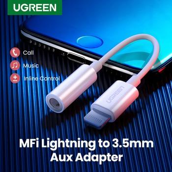 Ugreen MFi Lightning a Jack de 3,5mm adaptador de auriculares 3,5 AUX Cable convertidor de Cable para iPhone SE 11 11 Pro Max X XR iPhone 7 7P 8P