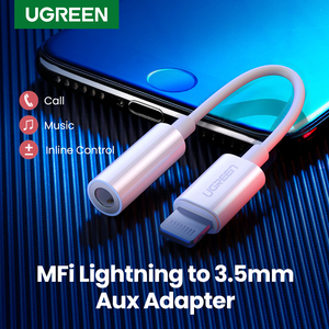 Image 1 - Ugreen MFi Lightning to 3.5mm Jack Headphones Adapter 3.5 AUX Cable Converter for iPhone 12 SE 11 11 Pro Max X XR iPhone 7 8 8P