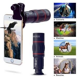 Image 2 - APEXEL 電話レンズキットフィッシュアイ広角マクロため 18X 望遠鏡レンズ望遠 iphone xiaomi samsung galaxy android 携帯電話