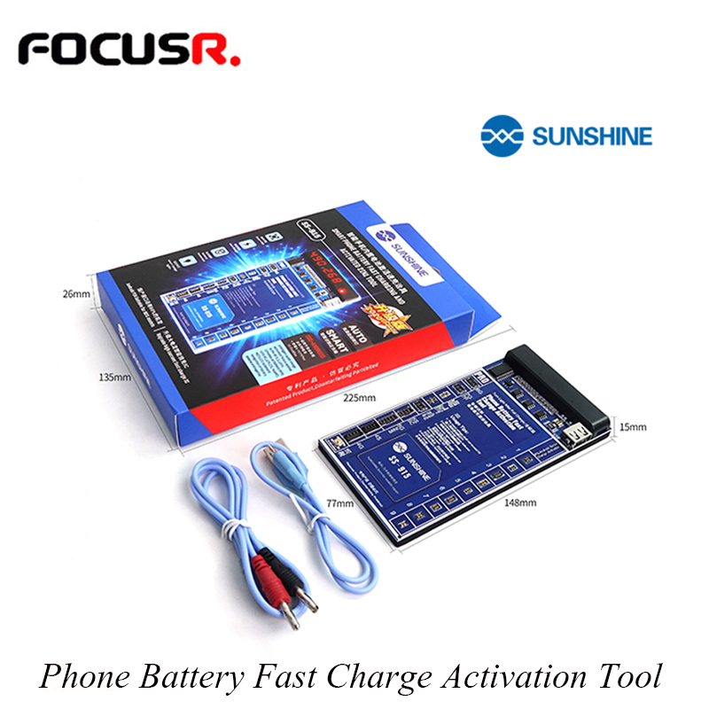 SUNSHINE SS-915 Phone Battery Fast Charge Activation Tool One-key Battery Activation Voltage Detection Short Circuit Protection
