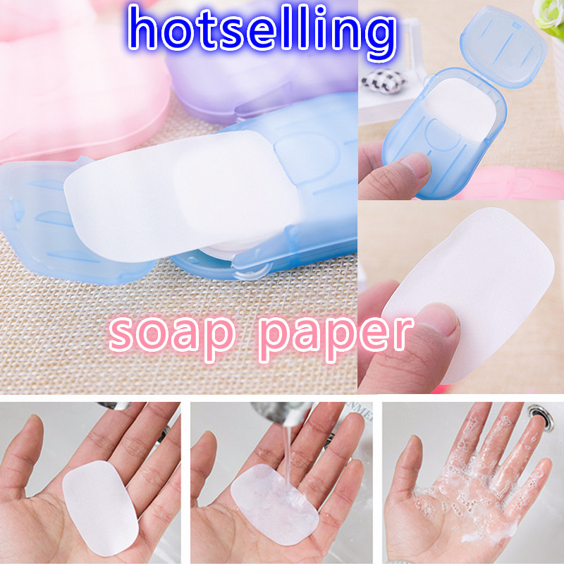 5/10/15/20/25box Travel Portable Disposable Boxed Soap Paper Make Foaming Scented Bath Washing Hand Mini Paper Soap Random Color