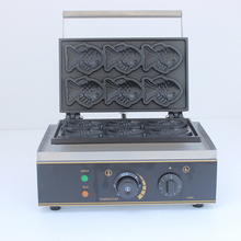 Personalized waffle making machine snack fish waffle  taiyaki maker high efficiency commercial gas double plate 12pcs fish taiyaki waffle maker machine taiyaki maker commercial