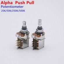 1 шт. потенциометр (POT) Alpha Push Pull для электрогитары LP ST, бас 25K/B50K/250K/500K, аксессуары для гитары