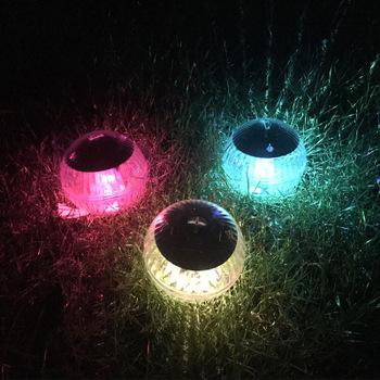 Zasilanie panelem słonecznym światła LED pływające oswietlenie ogrodu słonecznego wodoodporna świąteczna światełka 2 sztuk partia tanie i dobre opinie ALLMEJORES Handlowych Mini 10CM 1 2W