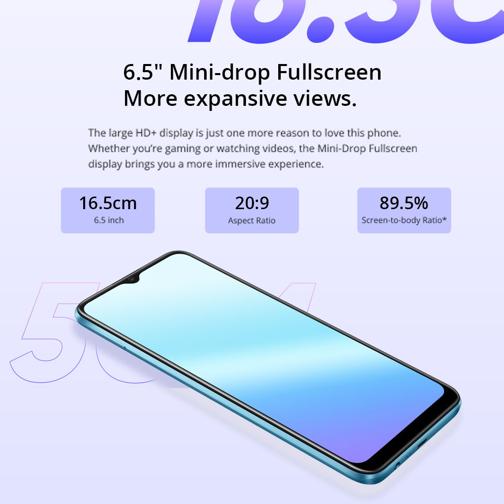 Global Version realme C21 Smartphone 4GB 64GB Helio G35 Octa Core 6.5'' Screen 5000mAh Massive Battery 3-Card Slot 13MP Camera 4