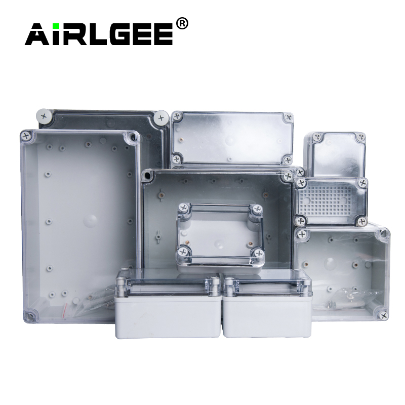 IP67 AG Series Transparent Cover Outdoor Waterproof DIY Electrical  Junction Box ABS plastic Enclosure Case Distribution box