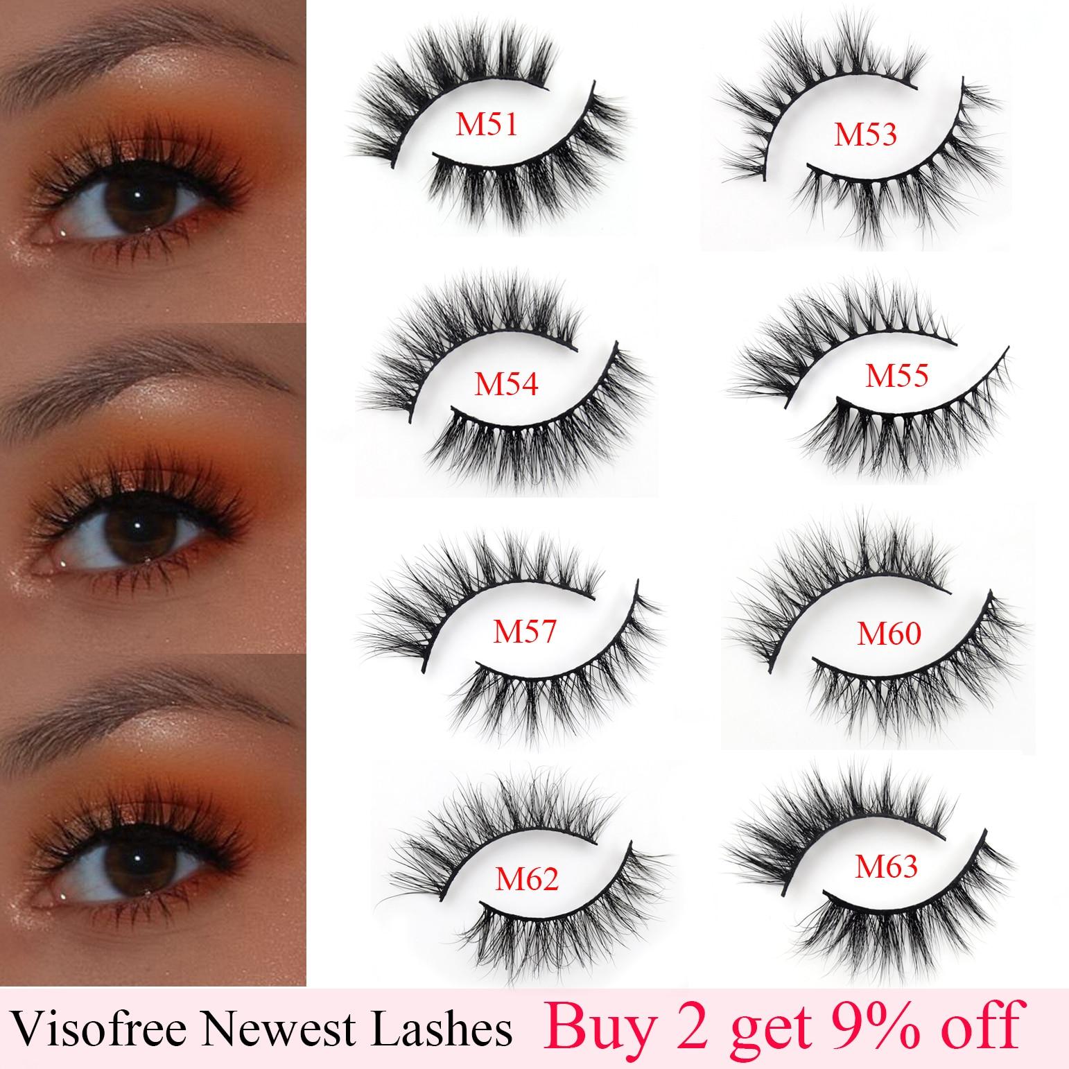 Visofree Eyelashes Natural False Fake Lashes Long Makeup 3D Mink Extension Eyelash for Beauty