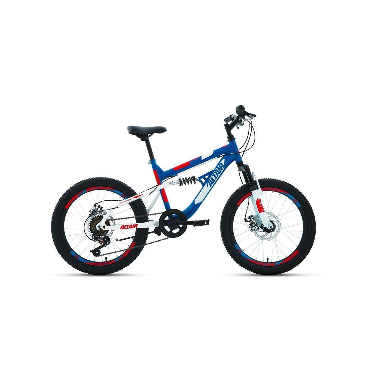 Подростковый велосипед ALTAIR MTB FS 20 20.0 (2020) , цвет синий