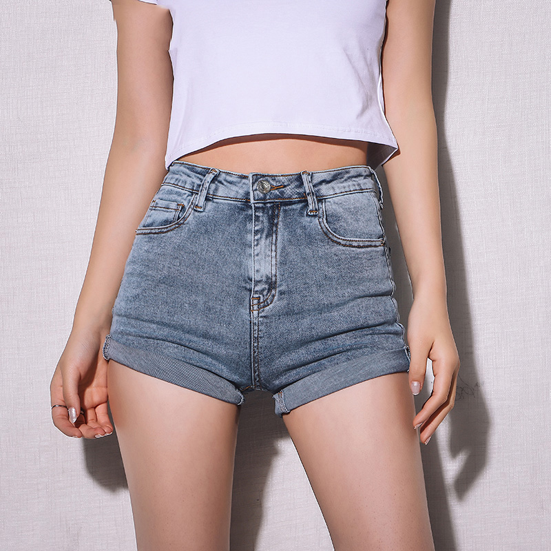 2019 Korean Jeans <font><b>Mini</b></font> High Waisted <font><b>Shorts</b></font> <font><b>Women</b></font> Blue Black Cute <font><b>Sexy</b></font> Denim <font><b>Shorts</b></font> Feminino Denim <font><b>Short</b></font> Mujer Summer image