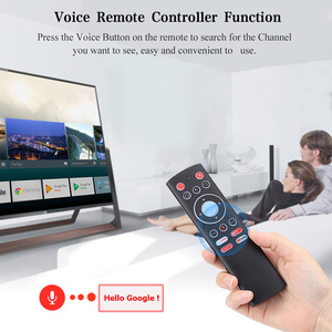 Image 2 - Voice Control Remote Air Mouse 2.4G Wireless Control Mic Gyros IR Learning For Android TV BOX Google Youtube PK G10 G20S