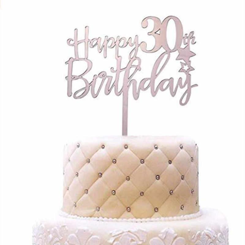 Pleasant Happy 30Th Birthday Acrylic Cake Topper 30Th Anniversary Birthday Funny Birthday Cards Online Hetedamsfinfo