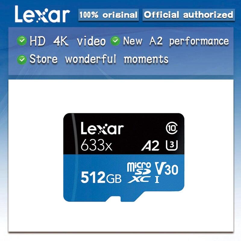 Lexar de alto rendimiento 633x microSDXC UHS I tarjetas de memoria 512GB sd micro máx. 100 M/s Class10 A2 3D 4K flash tarjeta tf-in Tarjetas de memoria from Ordenadores y oficina on AliExpress - 11.11_Double 11_Singles' Day 1