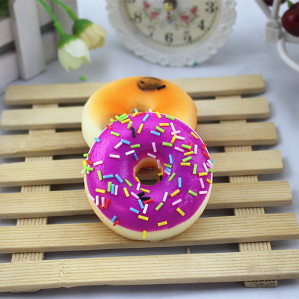 NEW Mysterious Aroma Solid Color Donut Toy Squishy Squeeze Stress Reliever Soft Colourful Doughnut Scented Slow Rising Toys