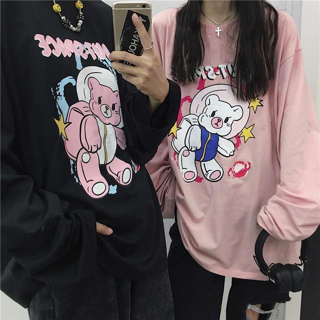 Korean Couples Shirt Women's Clothing & Accessories Tops & Tees T-Shirts Men's Clothing & Accessories Men's Tops & Tees Men's T-Shirts cb5feb1b7314637725a2e7: Black Pink