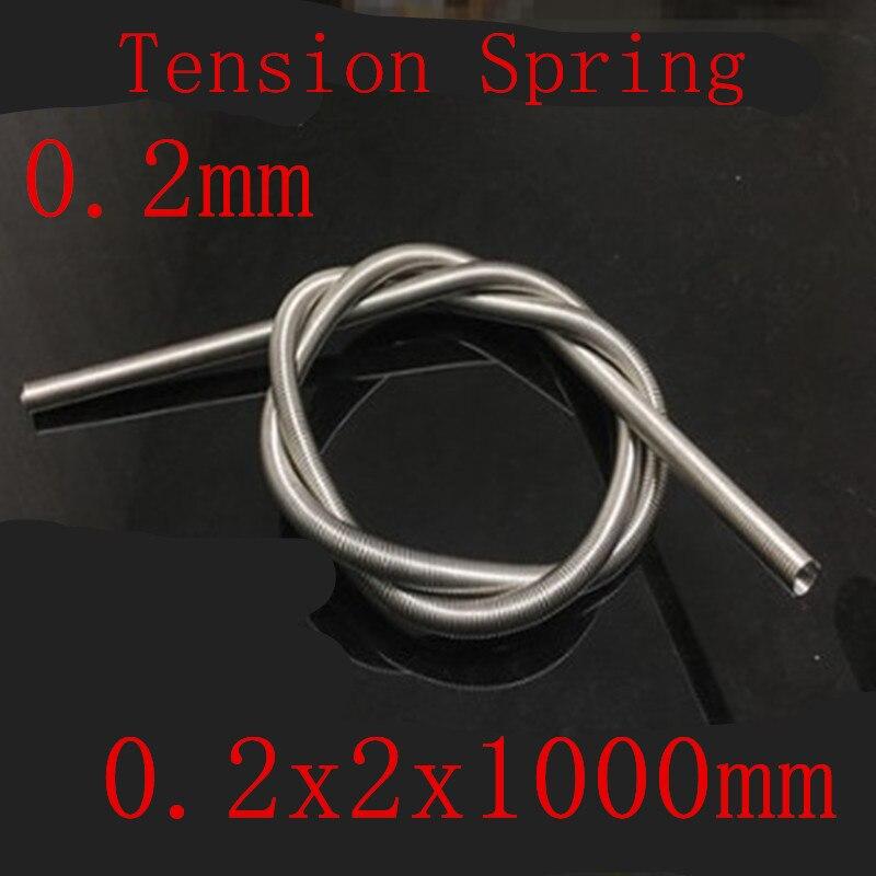 Сверхдлинный пружинный удлинитель из нержавеющей стали, 1 шт., 0,2*2*1000 мм, диаметр внешнего диаметра 0,2 мм, длина 2 мм