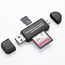 2 ב 1 USB קורא כרטיסי זיכרון מיקרו USB OTG ל usb 2.0 כרטיס מתאם SD/מיקרו SD TF כרטיס קורא עבור אנדרואיד טלפון Tablet PC